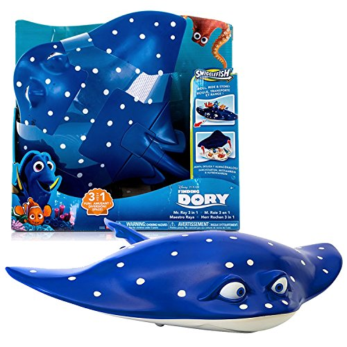 Bandai Year 2016 Disney Pixar Finding Dory Swigglefish Series 15 Inch Long Figure - MR. RAY 3 in 1 with Roll, Ride and Store Feature (Swigglefish Sold Separately)