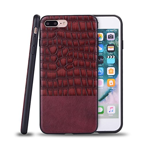 """HYAIT® For IPHONE 7 PLUS 5.5"""" Case[Crocodile][Shockproof] Dual Layer Hybrid Armor Rugged Plastic Hard Shell Flexible TPU Bumper Protective Cover-BAN05"""