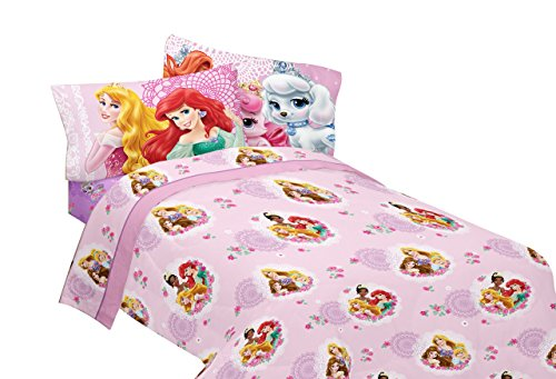 Friends Full Sheet Set - Disney Princesses Palace Pets Fabulous Friends Microfiber Sheet Set, Full