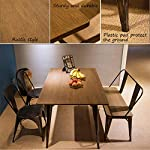 Merax Antique Style Rectangular Dining Table with Metal Legs 59''x 36'', Distressed Black, Only Table Not Include Bench…