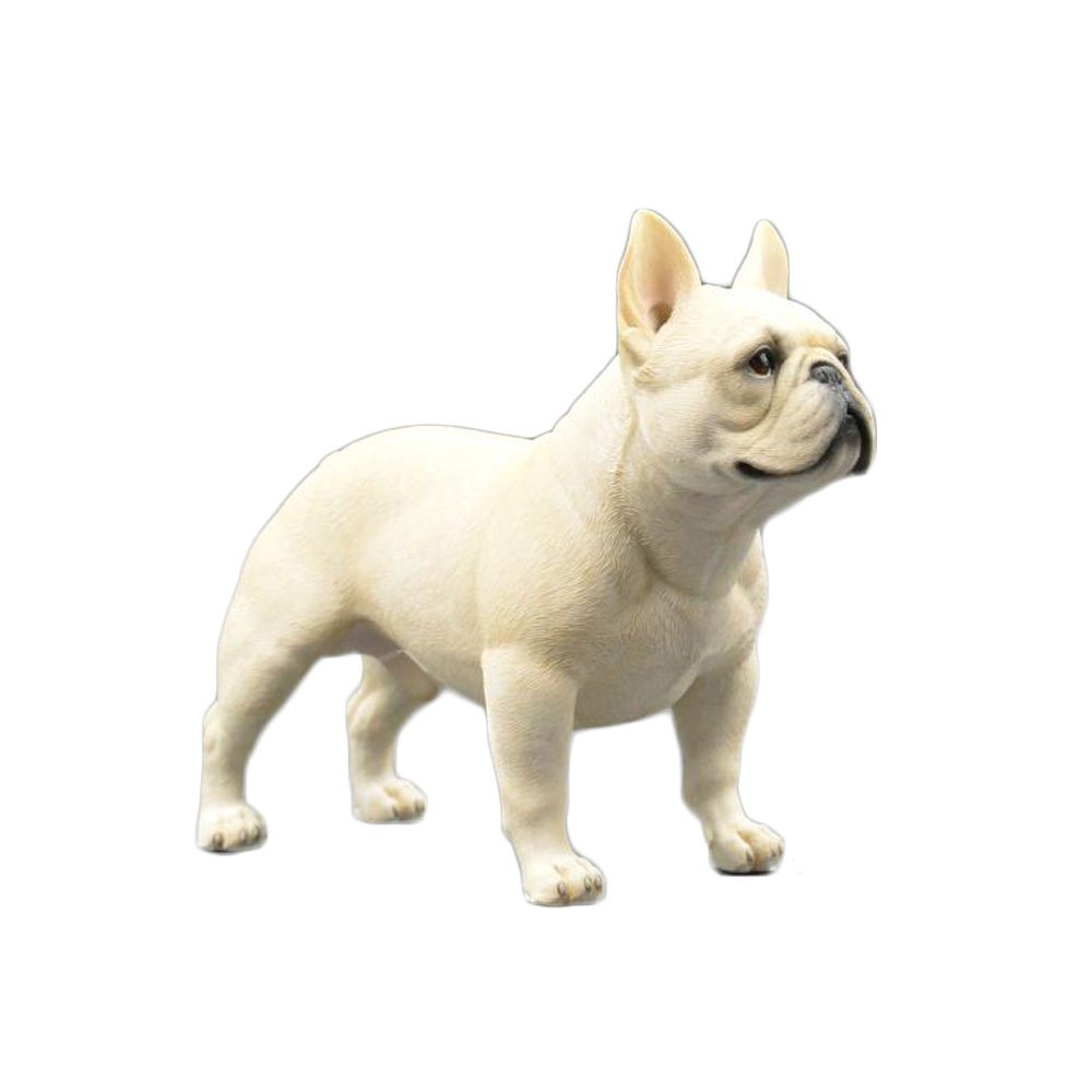 "PET SHOW Action Figure Accessories Bulldog Model Pitbull Figure for Home Car Dashboard Cars Vehicle Computer Desk Office Decorations Resin Cute Pet Doll 7.87"" Pack of 1 (Beige)"