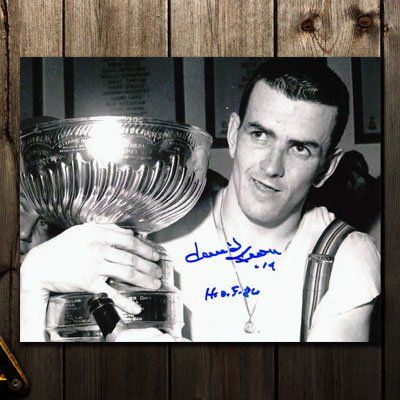 Dave Keon Toronto Maple Leafs HOF STANLEY CUP Autographed 8x10