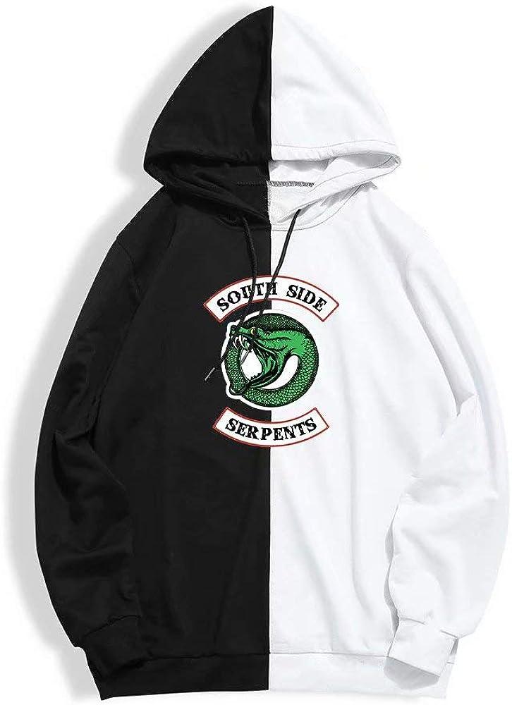 Sudadera con Capucha Baggy Riverdale 4 Unisex Sudaderas con Capucha de Jughead Jones Serpientes del Sur Jersey de Manga Larga Streetwear Harajuku Ropa de Hip Hop Jersey de Manga Larga
