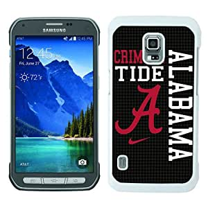 Unique Samsung Galaxy S5 Active Skin Case ,Fashionable And Durable Designed Phone Case With Southeastern Conference SEC Football Alabama Crimson Tide 8 White Samsung Galaxy S5 Active Screen Cover Case