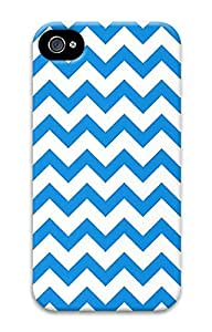 iPhone 4 4S Case Chevron Blue Pattern 3D Custom iPhone 4 4S Case Cover