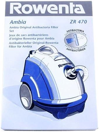 2 filtro como original zr0039 de Microsafe 20 bolsas para aspiradora Rowenta Power Space RO2121 RO2321 EA RO2335 EA RO2123 RO2125