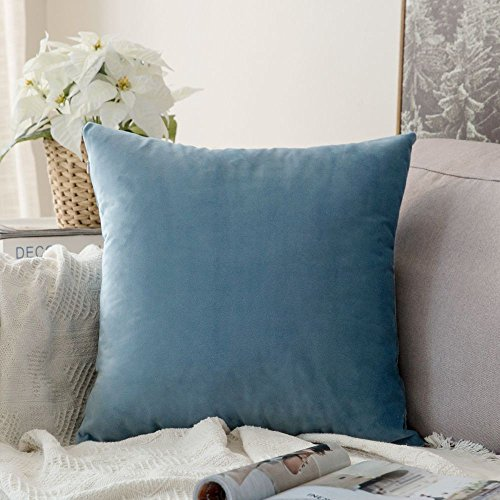 Miulee Velvet Soft Soild Decorative Square Throw Pillow Covers Set Cushion Case for Sofa Bedroom Car 24 x 24 Inch 60 x 60 Cm - Decorative Floor