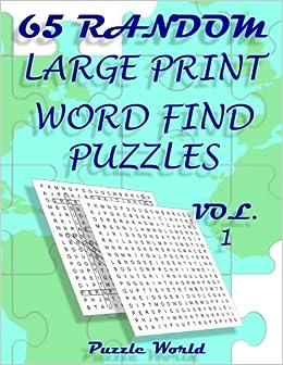 amazon com puzzle world 65 large print word find puzzles brain