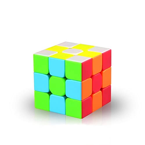 KalorK Smooth Speed Cube Magic 3x3x3 Puzzle Educational Toy for Brain Training Special Toys can be adjusted Turns smoothly, Super-durable with Vivid Colors