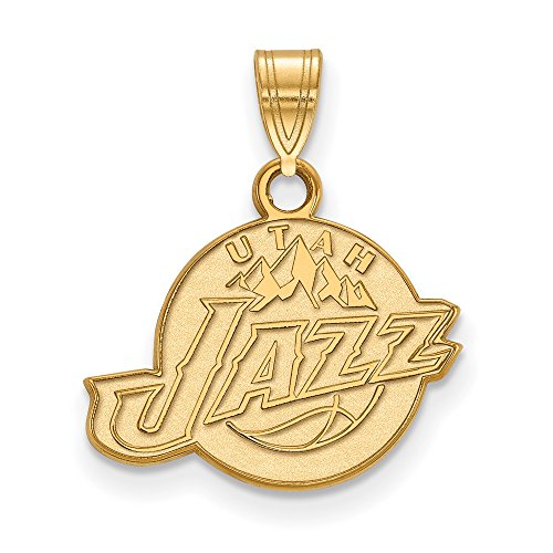 NBA Utah Jazz Small Logo Pendant in 10K Yellow Gold by LogoArt