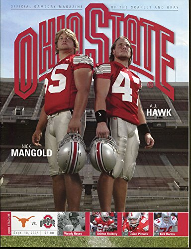 2005 Ohio State v Texas Longhorns Football Program Nick Mangold AJ Hawk