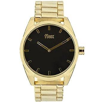Armbanduhr Flexwatches Black&Gold Bradly