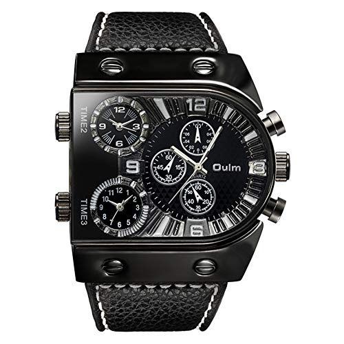 Oulm Men's Steampunk Skeleton Automatic Mechanical Alloy Stainless Steel Leather Watch CH164 - http://coolthings.us