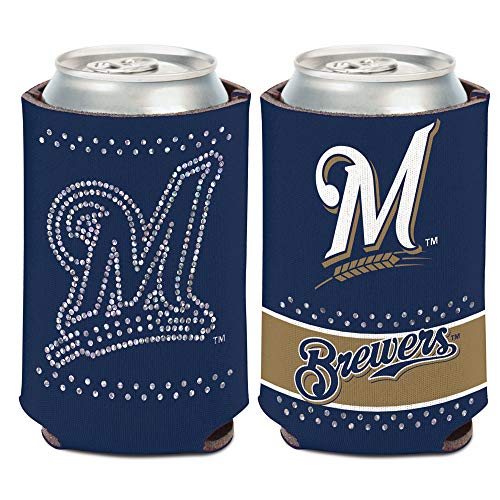 WinCraft Milwaukee Brewers Bling Can Cooler