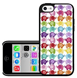 Adorable Colorful Baby Elephants Pattern Hard Snap on Phone Case (iPhone 5c)