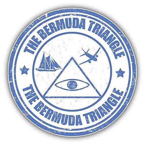 JJH Inc Magnet The Bermuda Triangle Grunge Rubber Stamp Flexible Vinyl Magnet Waterproof Car Magnetic Bumper Sticker 5
