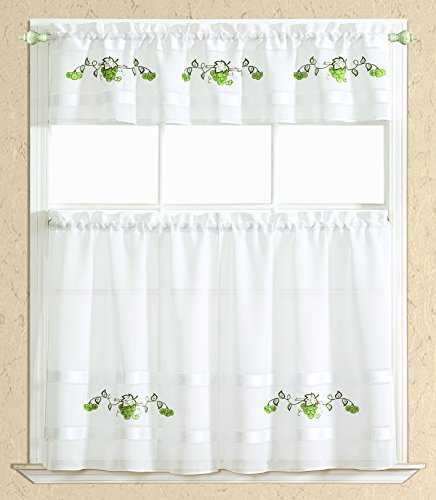 RT Designers Collection Spring Kitchen Curtain, 1 Straigh...