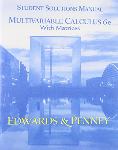 Calculus Early Transcendentals Matrix Versn