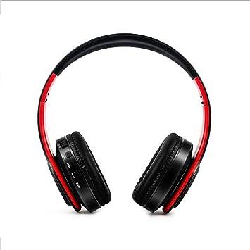 Auriculares inalámbricos Hi-Fi estéreo Bluetooth música deportes auriculares plegables suave memoria para PC/