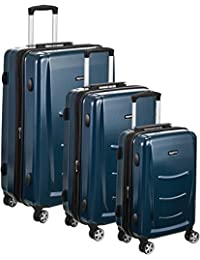 AmazonBasics Hardshell - veliz con ruedas, color azul marino