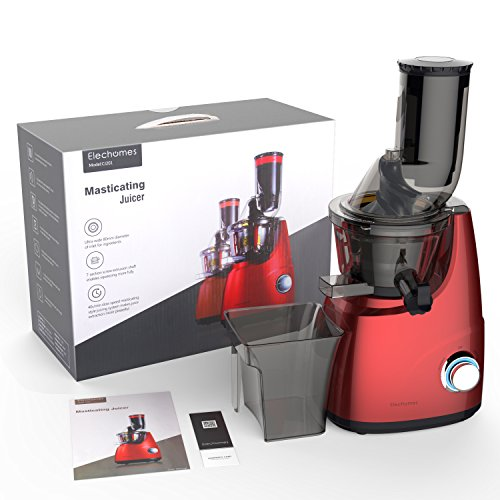Elechomes CJ201 Slow Masticating Juicer Extractor with Wide Chute (200W AC Motor, 45 RPMs, 3'' Big Mouth) Anti-Oxidation Lower Noisy - Vertical Masticating Cold Press Juicer by Elechomes (Image #7)