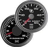 Hewitt 010TM5008 Combo Pyrometer & Boost Gauge - 2 Gauge Kit