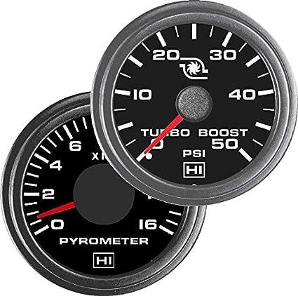 Amazon.com: Hewitt 010TM5008 Combo Pyrometer & Boost Gauge - 2 Gauge Kit: Automotive