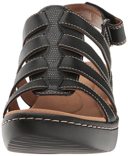 Clarks Women's Delana Maloren Dress Sandal Black Leather buy cheap best 0u66j5D