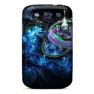 Tpu HenryAnaton Shockproof Scratcheproof Fractal Castle Hard Case Cover For Galaxy S3