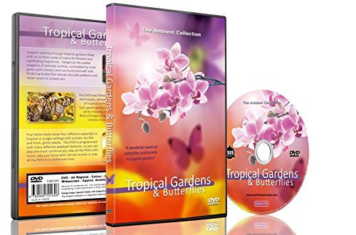 Nature DVD - Tropical Gardens & Butterflies with Music and Nature Sounds - Natures Orchids
