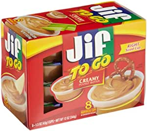 Jif To Go, Creamy Peanut Butter, 8 ct