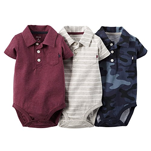 Carter's Baby Boys 3-pack Short-sleeve Polo Bodysuit Set