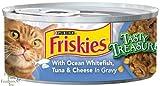 Friskies Tasty Treasures – Ocean Fish, Tuna and Cheese – 24 x 5.5 oz, My Pet Supplies