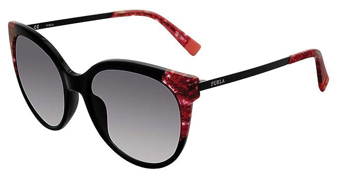 FURLA - Gafas de sol - para mujer negro-rojo 55: Amazon.es ...