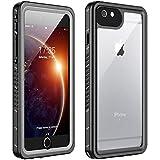 iPhone 6 Plus Waterproof Case iPhone 6s Plus Waterproof Case(5.5inch),  Huakay IP68 Certified Shockproof Dirtproof  Full Body Protection Waterproof For iPhone 6 Plus 6s Plus (Black/Clear)