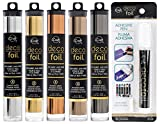 Deco Foil - Metallic Colors Transfer Sheet Set with Foil Pen - Rose Gold, Pewter, Silver, Copper & Gold (Original Version)