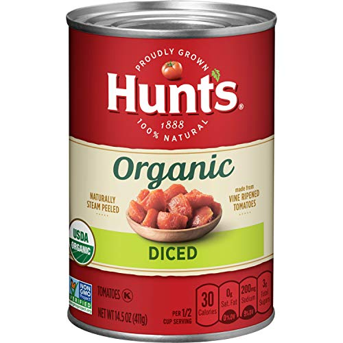 - Hunt's Organic Diced Tomatoes, 14.5 oz, 12 Pack