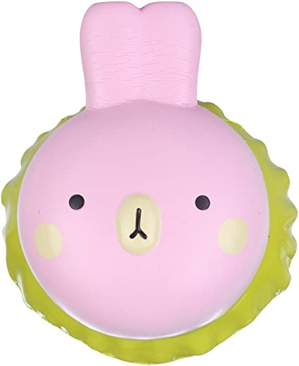 SZYUNI Squishies Rabbit Burger Squishy Stress Very Slow Rising Soft Squishies Squeezed Toys 1pcs Yellow