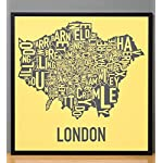 Ork Posters Greater London Boroughs Map Screenprinted Poster