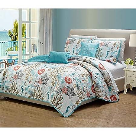 51UaSlllPJL._SS450_ Seashell Bedding and Comforter Sets