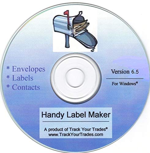Handy Label Maker Software Prints Mailing Address on Labels, Envelopes. Mail Invitations, Flyers, Christmas Cards. Contacts File, Address Book, Birthday Reminders. Windows PC or Laptop. (Best Laptops For Christmas)