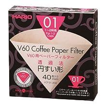Hario Misarashi Box of Paper Filter for 01 Dripper, 40 Sheets