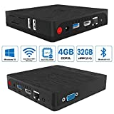 [4GB RAM + 32GB ROM] Maxesla BT3 PRO Mini PC Support windows 10 & Linux System Intel Atom X5-Z8350 Processor Smart Desktop Computer with 2.4G/5G Dual-Band WIFI, Gigabit 1000M LAN, Bluetooth 4.0, 4K2K