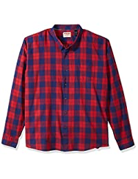Wrangler mens big-tall Authentics Big & Tall Long Sleeve Premium Plaid Shirt