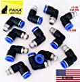 """10x Pneumatic Male Elbow Connector Tube OD 5/16""""(8mm) X NPT 1/8 PU Air Push in"""
