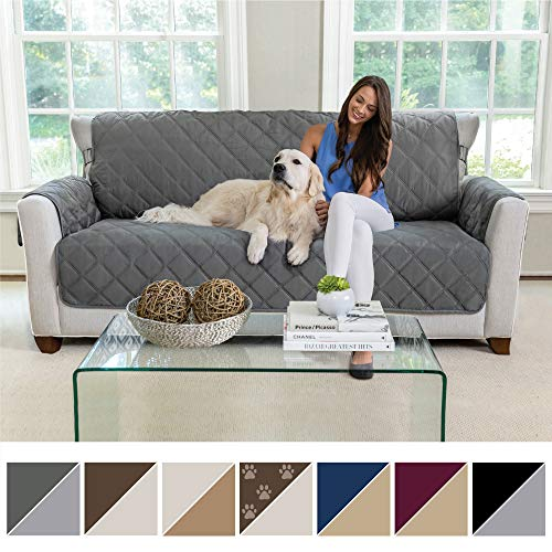 Dog Sofa Covers - MIGHTY MONKEY Premium Reversible Sofa Slipcover, Seat Width to 70