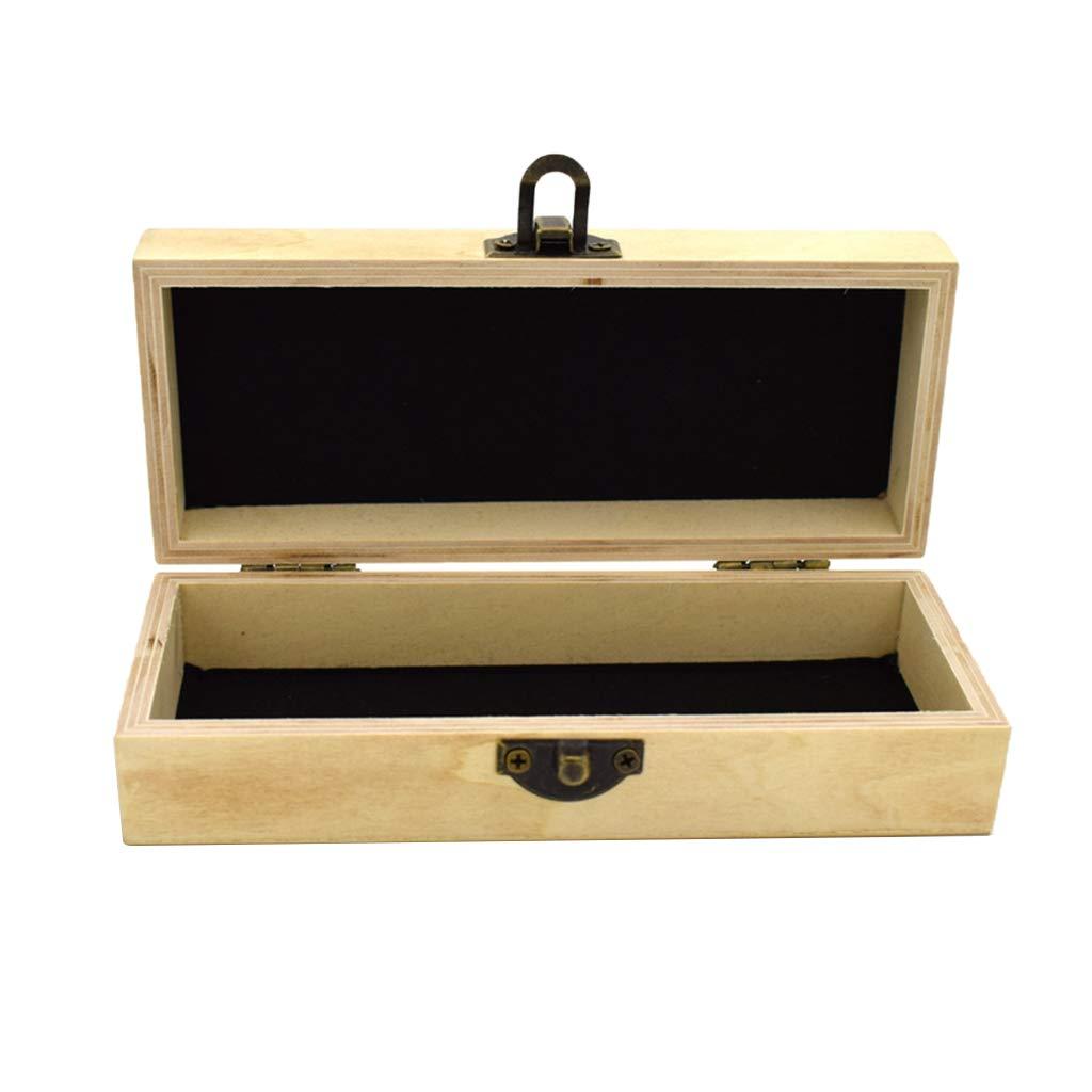 CUTICATE Handmade Glasses Box Holder Bamboo Wooden Sunglasses Eyewear Protective Case 16.5 x 6.9 x 4.6 cm