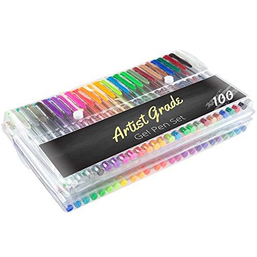 Artist Grade 55-PEN1004 Color Gel Pen Set 100 Count