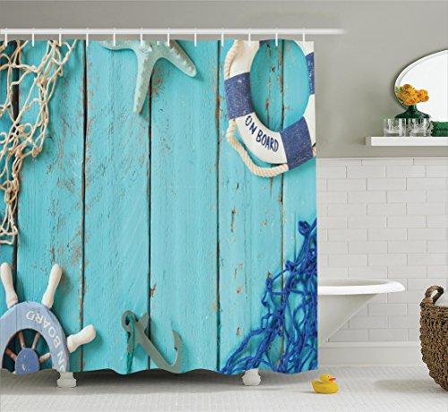 Nautical Ambesonne Lifestyle Polyester Turquoise