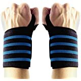 "Wrist Wraps Weightlifting,23"" Wrist Support Straps with Thumb Loops (1Pair) Hand Exercise Brace Professional Grade Wrist Strength Belt for Gym Training,Workouts Protector from IWAMEE"